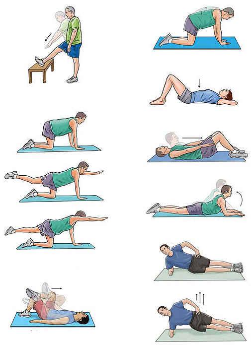 упражнения для похудения живота спины