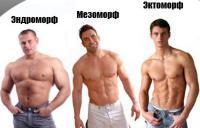 три мужчины с разными типа телосложения